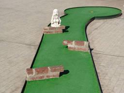 A minigolf course