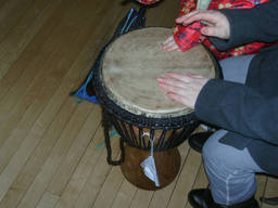 Djembe is a famous African percussion.