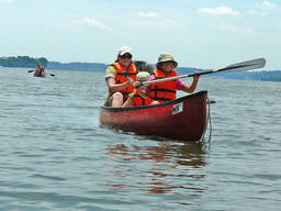 Go canoeing in white waters!
