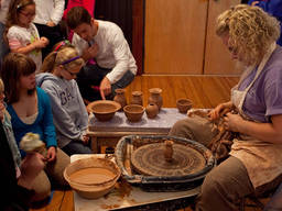 A kid's creativity can be funneled into creating useful pottery.