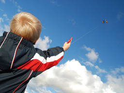Kite-flying is an outdoor activity that kids can enjoy with their parents.