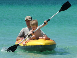 When kayaking in open water, children should be accompanied by an adult.