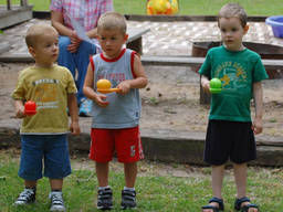 Preschool kids can engage in a simple egg relay contest to get involved in sports.