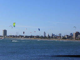 Melbourne is one of the world's kiteboarding hubs.