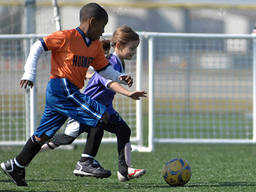 Sports programs keep children fit and healthy.