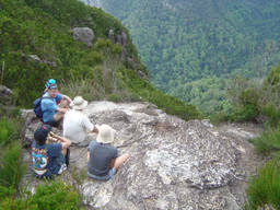 A family going on a bushwalking trip in Victoria.