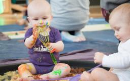 Why messy play and mark making is important in early development.