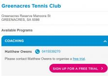 FREE trial lesson Greenacres Tennis Coaches & Instructors _small