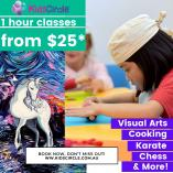 Kids Circle -  Visual Arts, Cooking, Coding, Dance, Karate, Chess in our Lindfield, Chatswood & Artarmon centres + Online Chatswood Educational School Holiday Activities _small