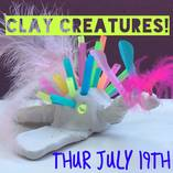 CLAY CREATURES July School Holiday workshop Randwick Arts & Crafts School Holiday Activities 4