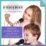 Take $10 off the 2nd child's lesson fee.  West Wollongong Singing Classes & Lessons 2 _small