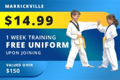 1 WEEK OF CLASSES + FREE UNIFORM UPON JOINING Marrickville Martial Arts Academies _small