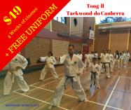 $49 for 4 week trial with FREE Uniform Canberra City Taekwondo Classes & Lessons _small