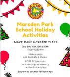 Make and Bake event with Entry during school holidays at Crocs Playcentre Marsden Park Marsden Park Cafes with kids Play Areas _small