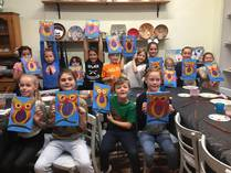 Kids Birthday parties with Canvas painting Gladesville Arts & Crafts School Holiday Activities 1