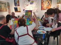 Paint Sip BYO Creative Fun Night Out Gladesville Art Schools 4 _small