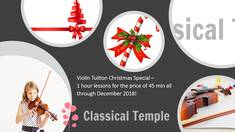 Christmas Special - 1 Hour Violin Lessons for price of 45 min Altona Violin Classes & Lessons _small