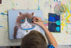 Kids After School Thursday Painting-ONLINE Mornington Art Classes & Lessons 3 _small