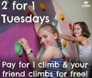 Cheap Tuesdays - 2 for 1 North Lakes Indoor Rock Climbing Centres _small