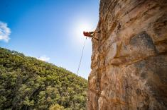 Rock Climb and Abseil at Morialta Conservation Park Adelaide City Centre Adventure _small