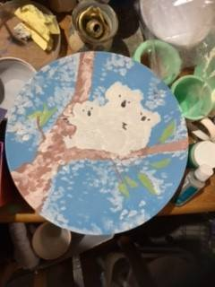 Plate with a painted underglaze my design