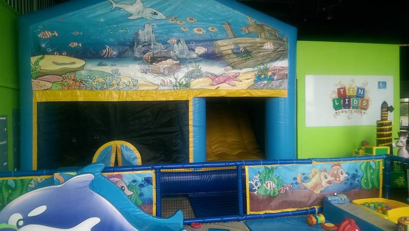 Jumping Castle with an internal Slide