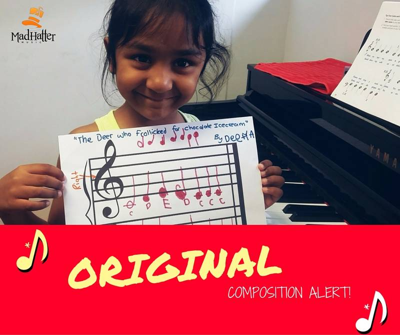 Deetya stoked to compose an original song!