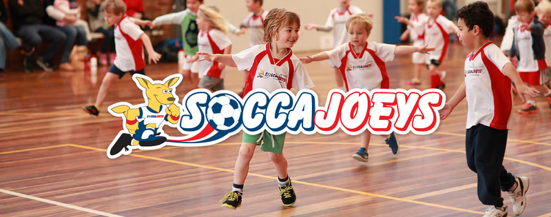 Kids having fun in a Soccajoeys Class