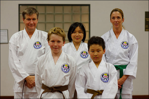 Some students from First Tae Kwon Do Nedlands