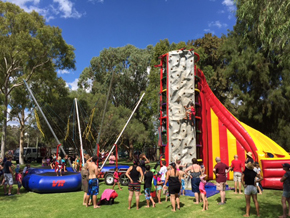 Spider Mountain_Climbing wall and bungee trampolines_Monsterball Amusements & Hire