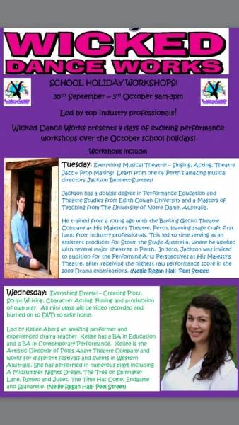 Wicked School Holiday Workshops