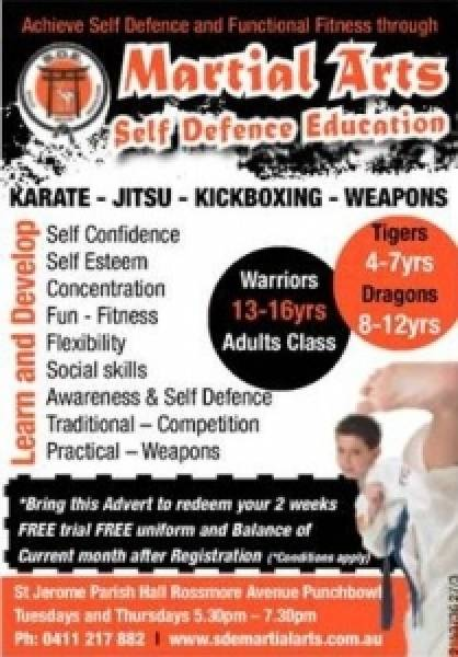 Martial Arts Self Defence Education