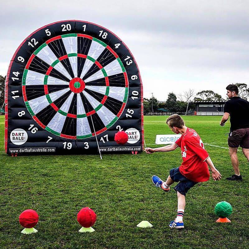 Velcro Dartboard with soccer, NRL or tennis balls