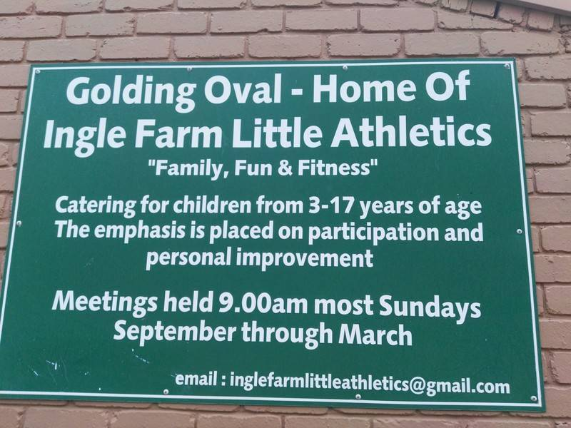 The sign on the side of our Clubrooms.