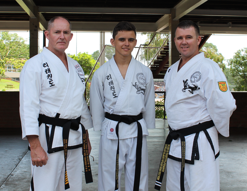 From Left to Right: Master Nigel (6th Dan Regional Instructor), Yu Dan Ja Sam (1st Dan), Sabum Nim Mark (2nd Dan Branch Instructor).