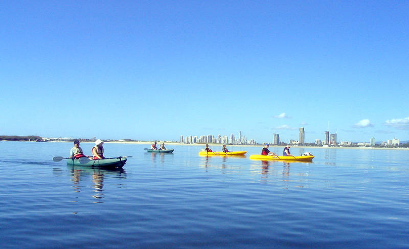 Kayaking on the beautiful Boardwater on the Gold Coast